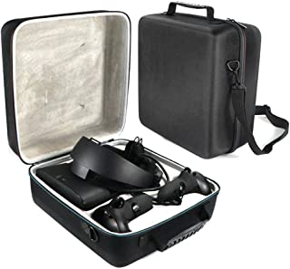 with Foam Impact Protection Pleasay vr Headset Carrying case Travel Storage Protective Bag for Oculus Rift S PC-Powered Virtual Reality Headset Gamepad Game Controller Kit Waterproof Astonishing