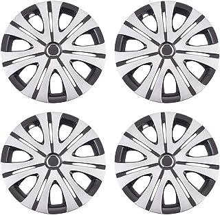XhuangTech 4Pcs/Set Car Chrome Wheel Rim Skin Cover Hub Caps Hubcap Wheel Cover (7 Dual Spoke, 16inch)