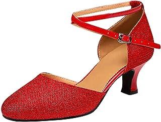 WINJIN Femme Escarpins Sandales Bride Cheville Sexy Talon Aiguille Plateforme Lacets Chaussures Bout Fermé Escarpins Chaus...