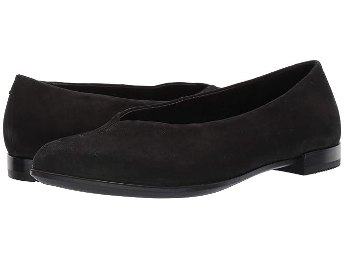 ECCO  Shape Pointy Ballerina (Black) Womens Flat Shoes