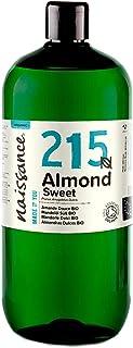 Naissance Mandelöl süß BIO Nr. 215 1 Liter 1000ml - 100% rein & natürlich, BIO zertifiziert, kaltgepresst, vegan, hexanfrei, gentechnikfrei Ideal für Massagen, Haut- und Haarpflege.