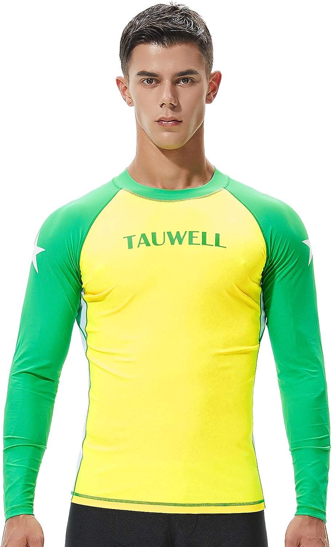 SEOBEAN TAUWELL Men's Long Sleeve Rash Guard Swimwear Surfing Shirt