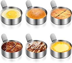 Egg Ring, Picowe 6pack 3inch Egg Mold Omelet for Cooking Fried Egg Pancake Beefsteak etc, Non Stick, 304 Stainless Steel