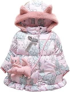 Fairy Baby Toddler Baby Girls Floral Jacket Coat Kid Winter Fleece Hood Outwear Snowsuit