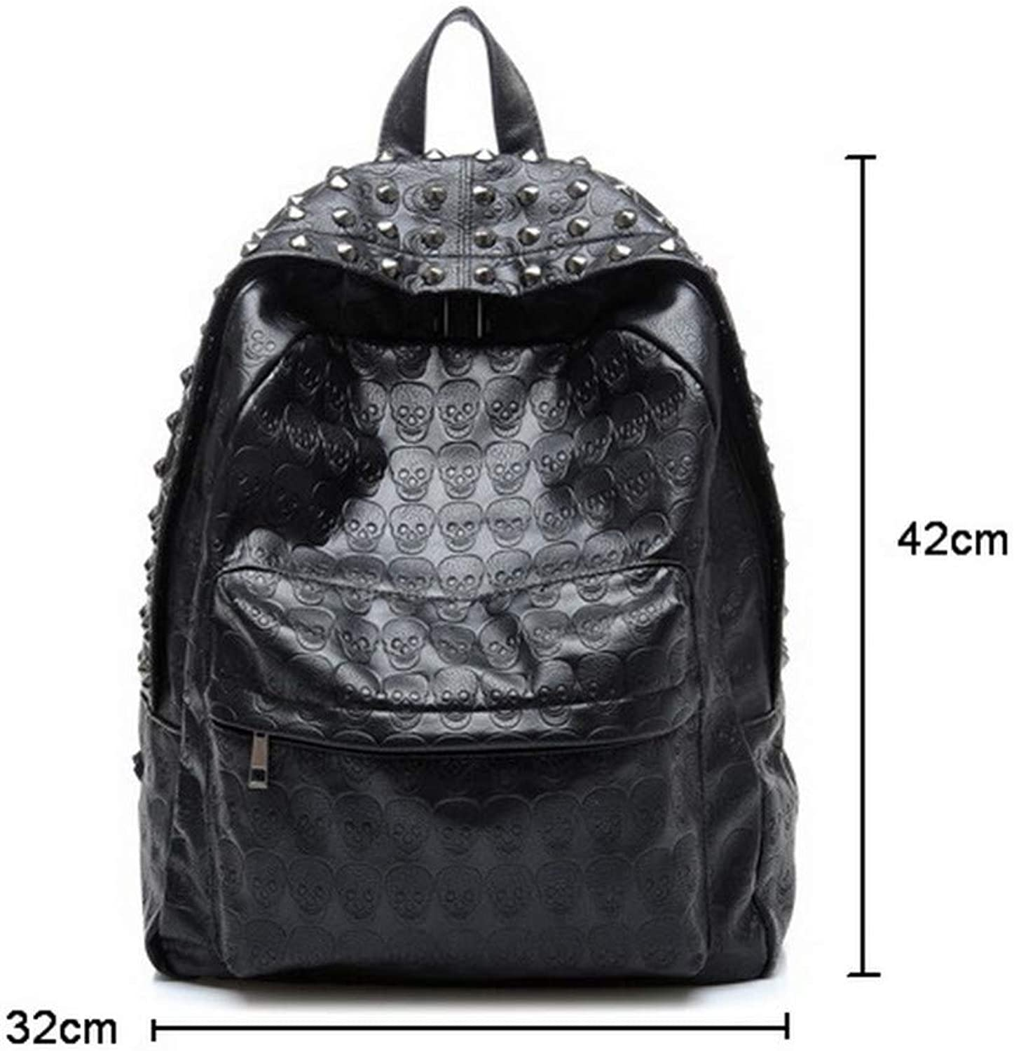 HUYANNABAO Fashion Luxury Leather Ladies' Backpack Large Capacity Travel Bag Punk Style Youth Casual School Bag Knapsack