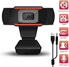 Supoggy Webcam PC Full HD 720P con Micrófono/Webcam Portátil para PC/Cámara Web para Video Chat y Grabación, Compatible con Windows, Mac y Android