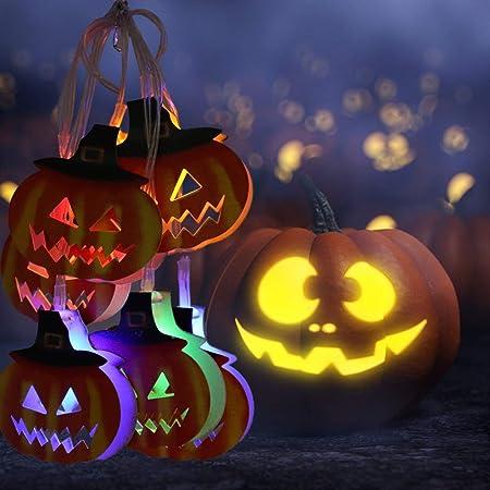 【2020最新バージョン】ハロウィン ledイルミネーション 電池式 20球 3m パンプキンライト ハロウィン電飾 飾りライト 可愛いかぼちゃ ハロウィンパーティー