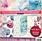 Prism Magic by Recollections 12' X 12' Card-Stock, Paper Pad 48 Single Sided Sheets Acid Free