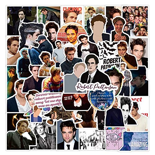 Robert Pattinson - Stickers Decals Water Resistant For Laptops, Phones, Phone Case, Consoles, Walls, Luggage Case, Books, Game (50 Stickers)