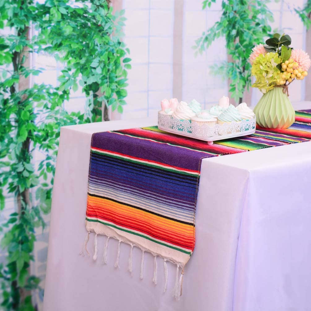 HTFDStar Pack of 6 Mexican Max 51% OFF Serape Table fo 108 Recommended 14 x Runners Inch