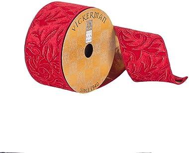 "Vickerman Ribbon, 2.5"", Red"