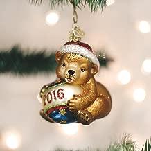 Old World Christmas Playful Cub 2016 Glass Blown Ornament