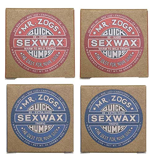 4個セットSEX WAX セックスワックス サーフワックス/サーフボードワックス サーフボード滑り止め  WARM(...