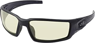 Uvex by Honeywell Hypershock Safety Glasses, Black Frame with Amber Lens & Uvextreme Plus Anti-Fog Coating (S2942XP)