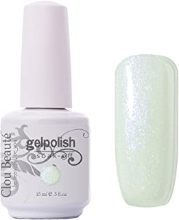 Clou Beaute Gelpolish 15ml Soak Off UV Led Gel Polish Lacquer Nail Art Manicure Varnish Color Glitter White 1605