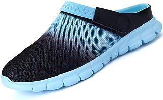 comprar comparacion LIANNAO Hombres Zuecos Zapatillas de Playa Respirable Acoplamiento Antideslizante Sandalias Zapatos Verano Malla Ligeros C...
