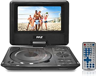 """9"""" Portable DVD CD Player - High Resolution TFT Swivel Angle Foldable Display Screen Built-in Rechargeable Battery USB/SD Card Readers 32GB Memory & Multimedia Support w/ Remote Control - Pyle PDH9"""