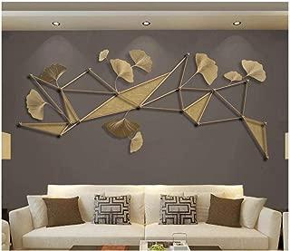 Papel Pintado Fotográfico 3D - Ginkgo creativa geométrica moderna Líneas doradas en relieve - No-trenzado papel pintado Salón Dormitorio Decoración murales decoración de paredes moderna 300 x 210 cm