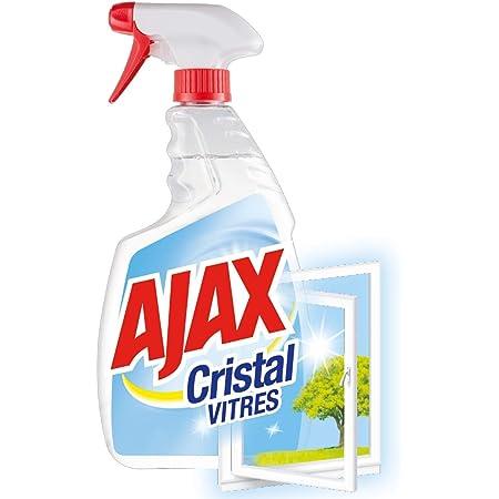AJAX - Produit Nettoyant Vitres Ajax Cristal Spray - Pour des Vitres 100 % Sans Traces - Nouvelle Formule 98 % Biodégradable - Flacon Spray 750 ml (Bouteille Recyclable)