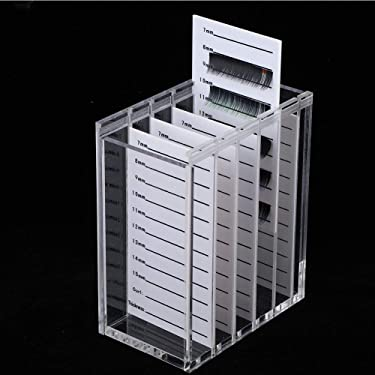 5 Layers Acrylic Grafting Eyelashes Storage Box, Clear Lash Extension Supplies Case, Makeup Display Container Eyelash Grafting Extension Tool Holder