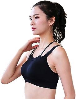 Sports Bra Women-Running Yoga Fitness Vest High-Strength Adjustable Shockproof Beauty Back Fitness Gathered Underwear (Col...
