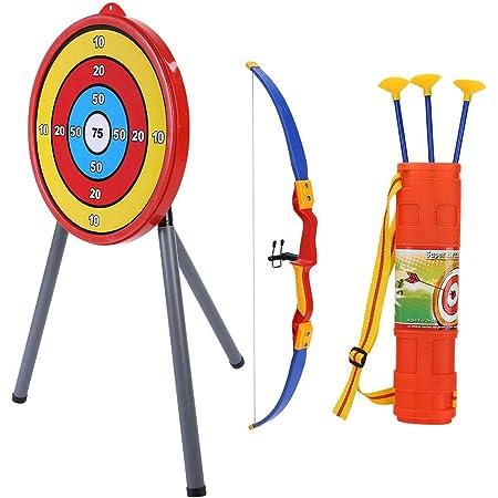 アーチェリーセット玩具 弓と矢 子供用射撃セット 戦術的なおもちゃ プラスチック製 子供弓ターゲット玩具 贈り物