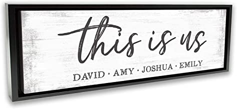 Pretty Perfect Studio Custom This is Us Sign, Personalize Family Names on Canvas Wall Art | 20