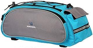 Alforge bolsa impermeavel Roswheel para bike bicicleta montagem no bagageiro azul