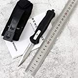 Outdoor Stainless Steel Knife Folding Blade Pocket Knife Aluminium Handle Black Knife Camping