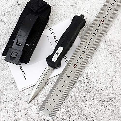 Outdoor flipper Teleskop Messer Taschenmesser Klappmesser D2 stahl Klinge Zink Aluminium griff survivial Messer Überlebensmesser Rettungsmesser schwarz mit Nylon scheide Clip Pocket knife EDC
