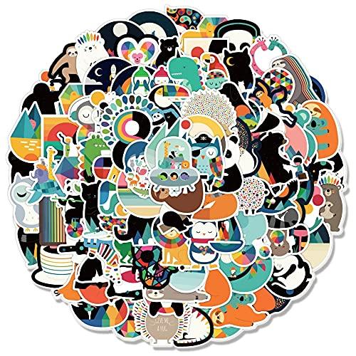 QICHE Pegatina de Graffiti de Animales de Dibujos Animados para Ordenador portátil, monopatín, Guitarra, Equipaje, Motocicleta, Bicicleta, Pegatina Impermeable 100 Uds