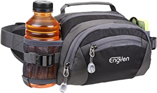 ENGYEN Fanny Pack Waist Bag for Women Men, Running Packs Gear with Phone Water Bottle Holder Adjustable Belt, for Travel Workout Hiking, Carrying iPhone Money, Multi Colors Black, red and More