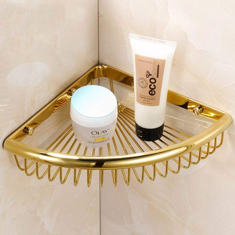 LUDSUY Bathroom accessoriesSolid Copper Bathroom Basket Bathroom Jiaojia gold Antique Bathroom Accessories Racks, A