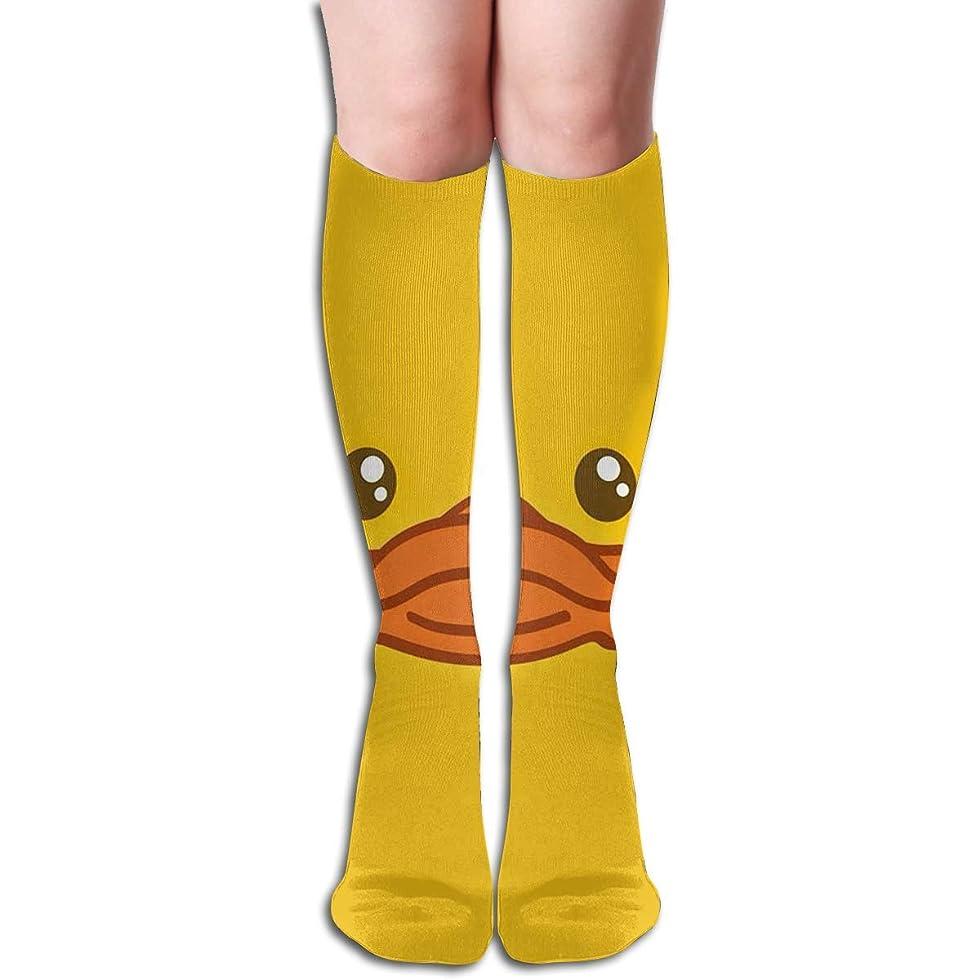 拷問沼地押すqrriyイエローダックチューブストッキングレディース冬暖かい膝ハイソックスブーツ靴下