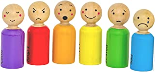ARTIBETTER 10pcs Unfinished Wooden Peg Dolls Girl Shape Peg People Doll Bodies Wooden Figures DIY Painting Graffiti Puppet Toys for Craft Art Projects 65mm Light Yellow