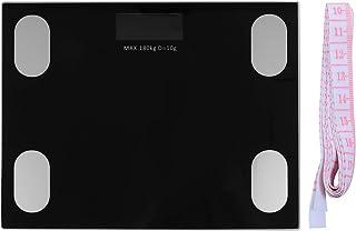 Wakauto Báscula Corporal Digital Báscula de Pesaje de Alta Precisión Báscula de Baño con Batería Monitor de Salud con Cinta Métrica para El Hogar