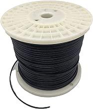 Aniai (500feet) Spool 18/2 SPT-1, SPT-2 Bulk Lamp Cord, 300-Volt 18-Gauge,Extension Wires(spt1, black)