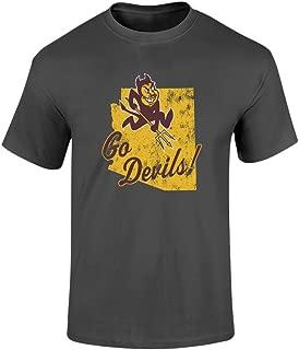 NCAA T Shirt Charcoal Vintage