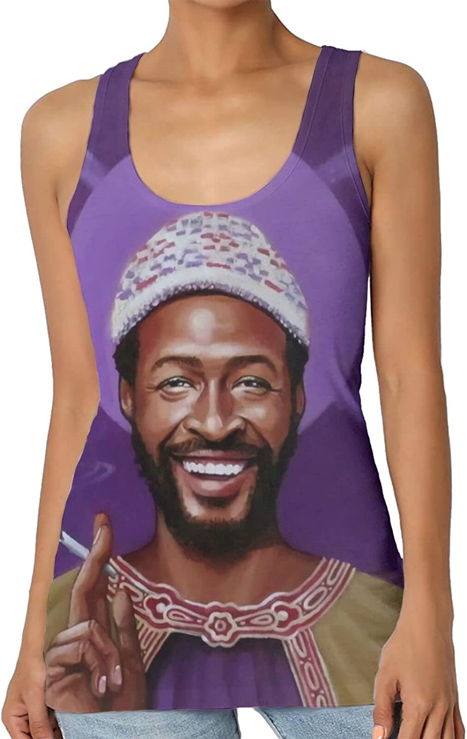 Marvin Gaye Women's fashion vest, sports sleeveless sexy vest, simple and practical, not easy to shrink
