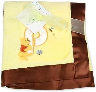 Disney Unisex Pooh Plush Satin Trim Blanket