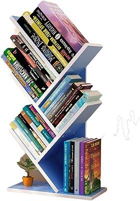 GWXJZ CD DVD Racks Solid Wood CD Storage Shelf, Tree Shaped Student Bookshelf, Creative Children's Bookcases, Small Footprint, Large Capacity, H59L31W17CM