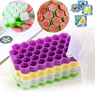 GUOJIAYI 1 piece honeycomb ice tray mould for ice cream tray 37 cubic food pie cold drink mould ice cream mould