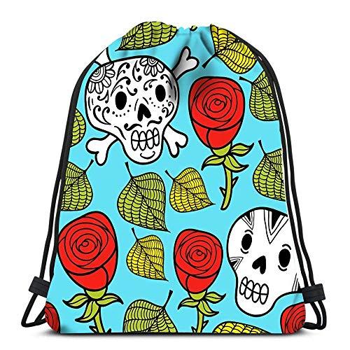 Yuanmeiju Traveling String Backpack,Teens Sack Drawstring,Sports Mochila con cordón,Unisex Bolsos con cordón,Rock and Roll King Durable School Backpack