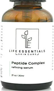 Peptide Complex Serum For Face - Boost Collagen To Heal & Repair Skin - Anti Aging, Refines Wrinkles, Evens Skin Tone, Restores Elasticity & Firmness - Hyaluronic Acid, Aloe Vera, Jojoba Oil Vitamin E