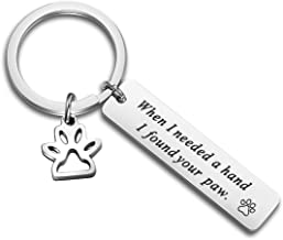 ENSIANTH When I Needed A Hand I Found Your Paw Bracelet Expandable Wire Bangle with Paw Print Charms Special Gift for dog lovers