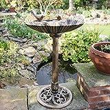Kingfisher Bronze Effekt Kunststoff Vogeltränke