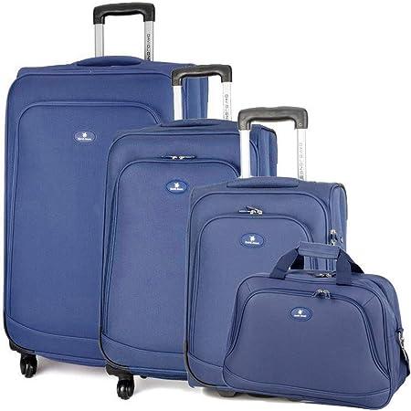 Slimbridge Bagage Valise Extensible L/égere /à Deux roulettes Rennes Bleu Ensemble Lot de 2 valises pi/èces
