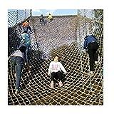 GZHENH-Plane Gewebeplane Fish Net Wall Fischernetze Im Mediterranen Stil, Dekoration Hintergrundwand Bar Deckennetz Geländer Sicherheitszaun, Anpassbar (Color : Beige-4mm, Size : 1x1m)