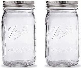 Ball Mason Jar-32 oz. Clear Glass Ball Wide Mouth-Set of 2