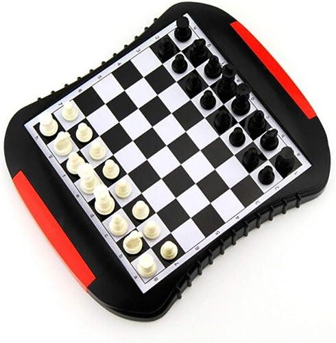 Mzitty-615 Jeu d'échecs avec des pièces en métal Classiques et Un tiroir de RangeHommest for Jeu d'échecs de Voyage for Enfants Jeu d'échecs for Adultes